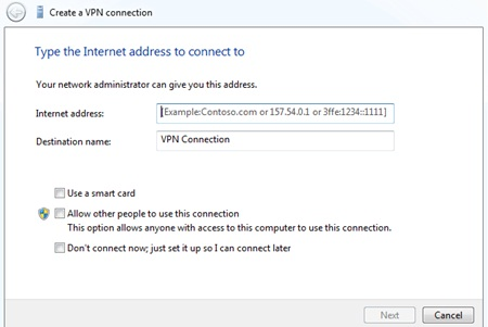 setting vpn windows 7