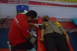 Menyambut Hari Bhayangkara Ke 75, Polres Pasangkayu Gelar Donor Darah Di Aula Wirasatya 96.