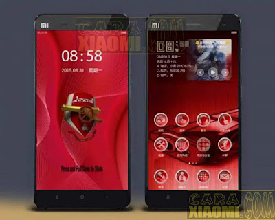 Kumpulan Tema MIUI Football Arsenal FC Themes Mtz For Xiaomi