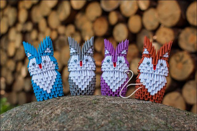 674. Sowy z origami / 3d origami owls