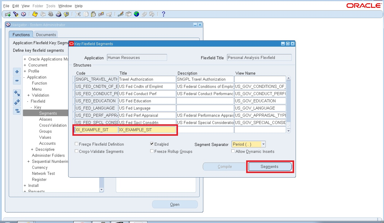 Special information types in oracle hrms