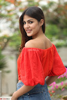 Rhea Chakraborty in Red Crop Top and Denim Shorts Spicy Pics ~  Exclusive 198.JPG