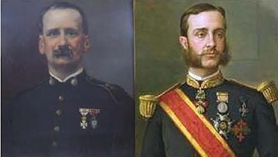Federico Puig Romero y Alfonso XII.