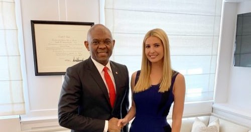 Image result for images of Tony Elumelu meets with Ivanka Trump