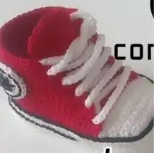 Converse para Bebé a Crochet