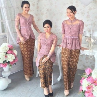 model kebaya simple brokat