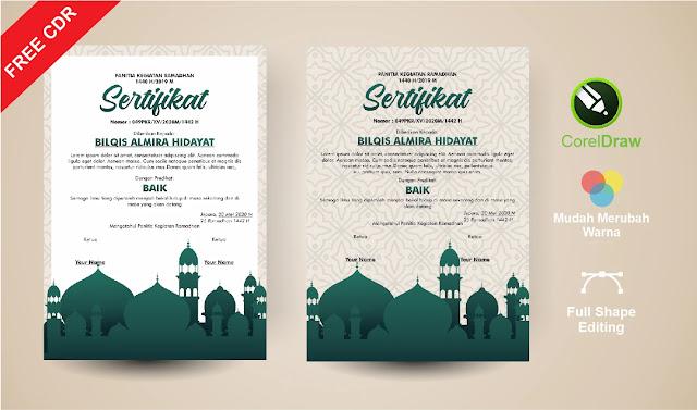 Kumpulan Sertifikat Ramadhan CorelDraw Gratis