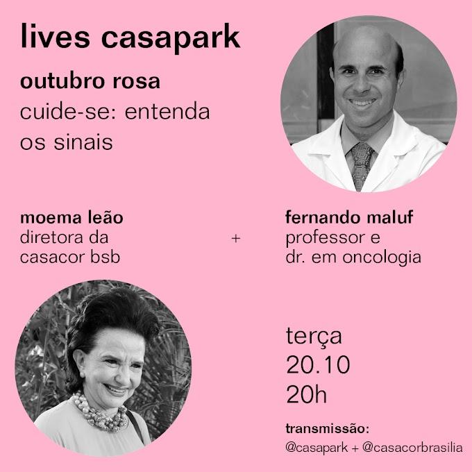 Outubro Rosa: Casapark promove live com tema Outubro Rosa