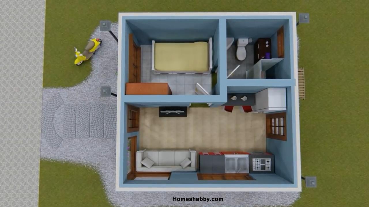 Desain dan Denah Rumah Minimalis Sederhana Ukuran 5 x 5 ...