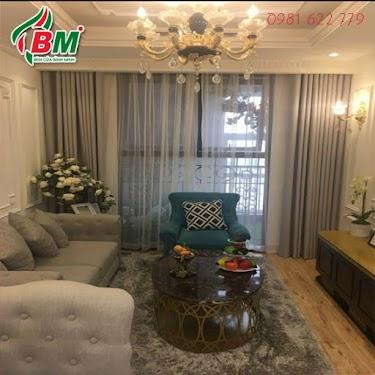 Rèm vải trơn cao cấp 2 lớp sang trọng giành cho phòng khách đẹp,chất vải dày mềm mịn công trình thi công q 12 hcm...0981.622.779