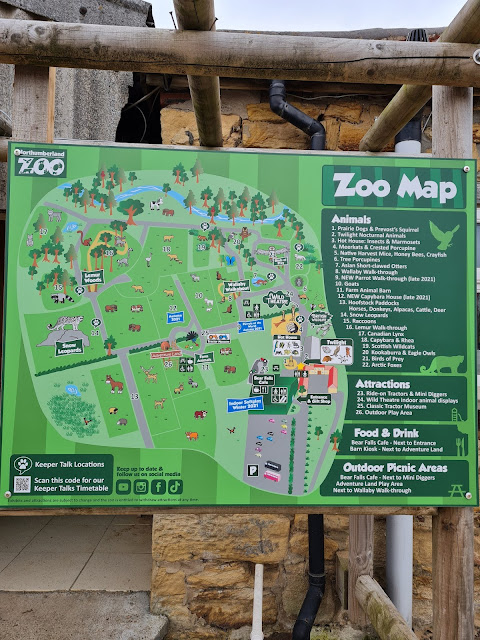 Northumberland Country Zoo Review (with a pushchair) - zoo map
