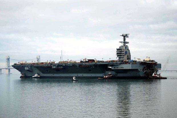 Kapal Induk Tercanggih AS Tak Siap Perang