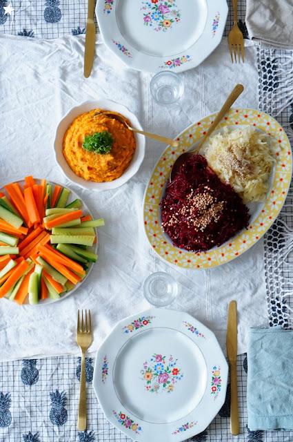 vegan food, tartinade lentilles patate douce
