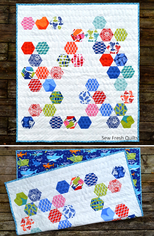 Beach House Baby Quilt - Tutorial