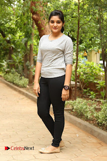 Actress Niveda Thomas Pictures in Black Jeans at Gentleman Movie Interview  0162.JPG