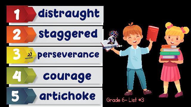 grade 6 spelling list #3