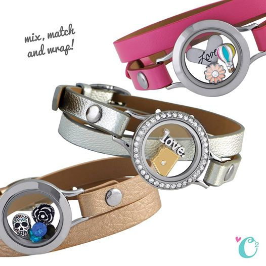 Genuine Leather Wrap Bracelets from Origami Owl | Shop StoriedCharms.com