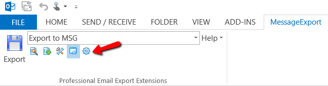 Location of the Profile Editor in MessageExport.