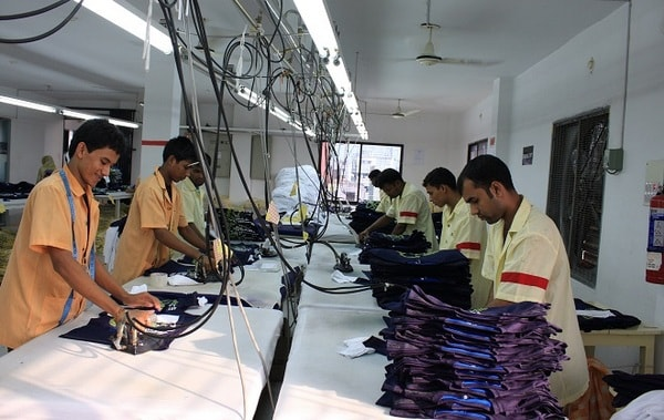 Garment finishing department