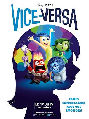cinéma, chronique, avis, vice versa, dessin animé, film d'animation, disney, enfin, juin 2015