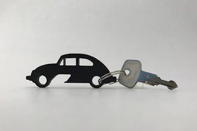 Volkswagen Beetle Bottle Opener Keychain
