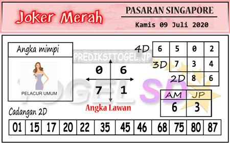 Prediksi Togel Joker Merah SGP Kamis 09 Juli 2020