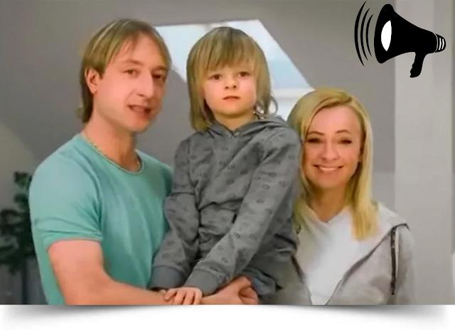 агитационный ролик вышел с участием фигуриста Е. Плющенко и его семьи