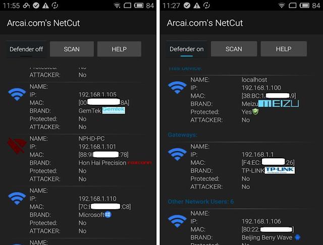 قطع الاتصال عن الأجهزة المتصلة بالشبكة