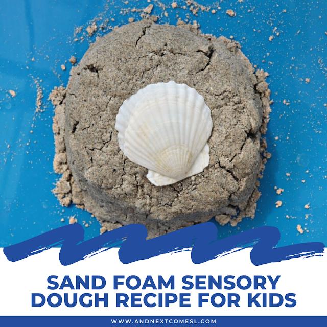How to make sand foam sensory dough for kids