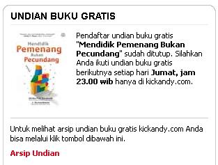 Cara mendapatkan buku gratis dari kick andy