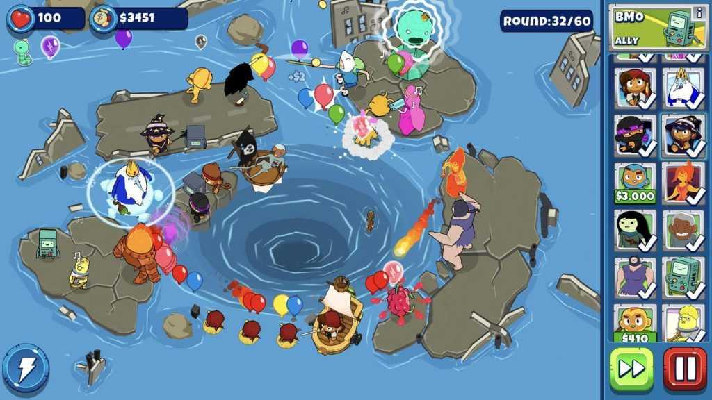 تحميل لعبة وقت المغامرة Bloons Adventure Time للأندرويد أحدث اصدار