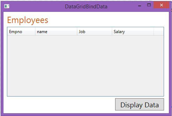 Data Binding in WPF DataGrid Using SQLServer DB Via LINQ