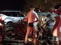 DONA INÊS - Grave acidente envolvendo dois carros deixa três mortos em Dona Inês