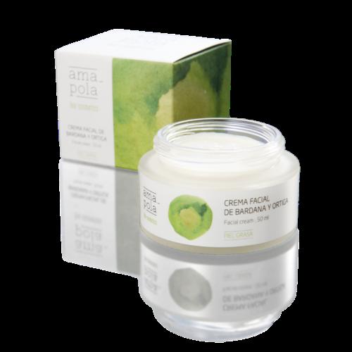 Crema Facial de Bardana y Ortiga de Amapola Bio Cosmetics