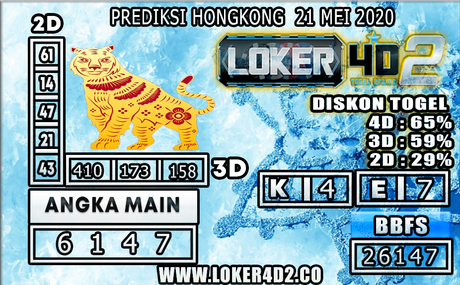 PREDIKSI TOGEL HONGKONG LOKER4D2 21 MEI 2020