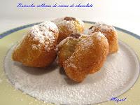 Buñuelos rellenos de crema de Chocolate