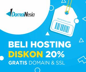 Penawaran domain gratis saat membeli hosting di Domainesia