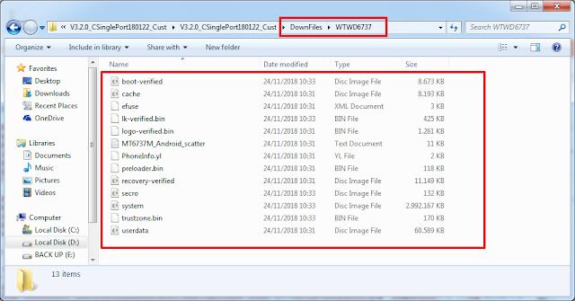 hasil ekstrak firmware cpb yang sudah menjadi file scatter