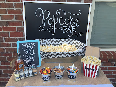 How to plan the perfect party to keep from losing your mind. Step-by-step guide to party planning. Party planning North Alabama. Backyard movie night and baby-que. Popcorn bar