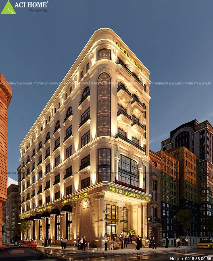 Thiết kế khách sạn kiểu Pháp 3 sao