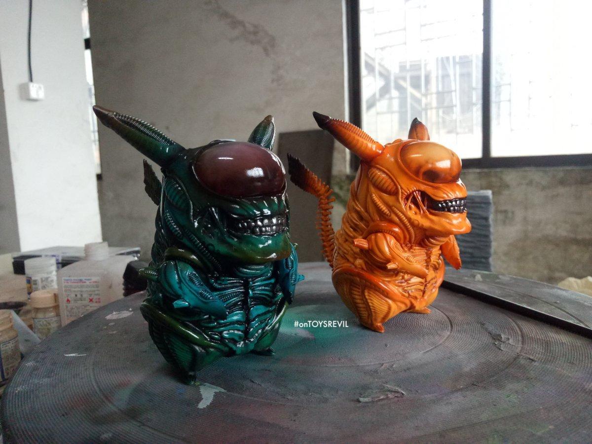 Pikachu x Aliens GK (Garage Kit) from Tooth Fairy Studio