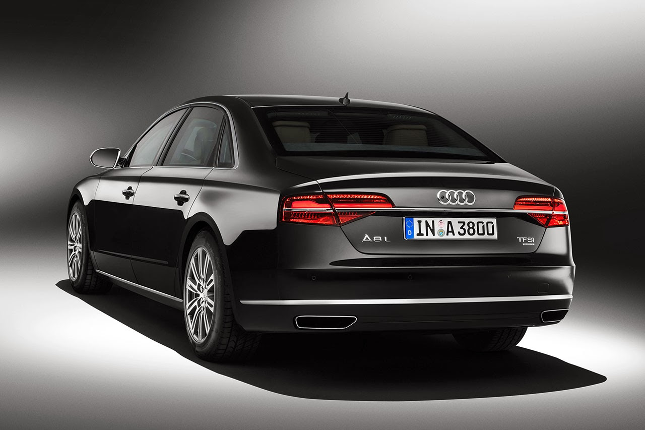 Audi A8 L Security rear