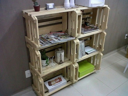 Furniture with recycled objects 1