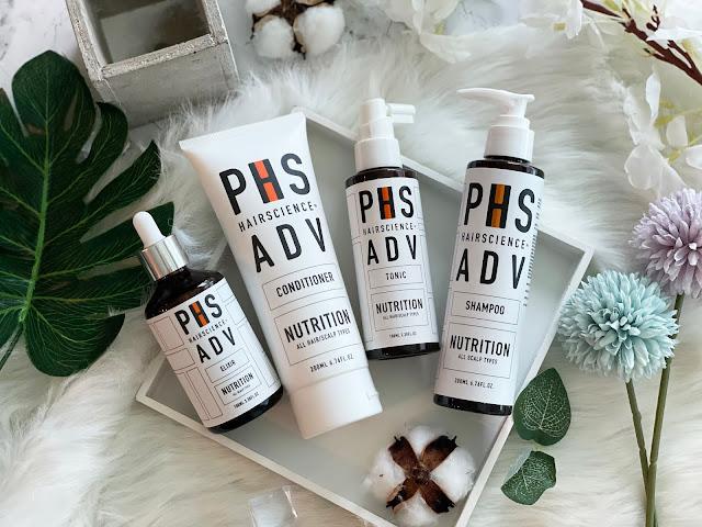 phs hairscience adv nutrition range