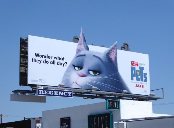 Secret Life of Pets Chloe cat billboard