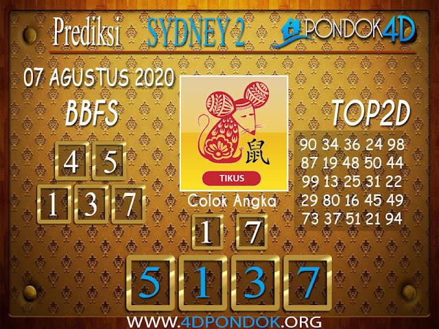 Prediksi Togel SYDNEY 2 PONDOK4D 07 AGUSTUS 2020