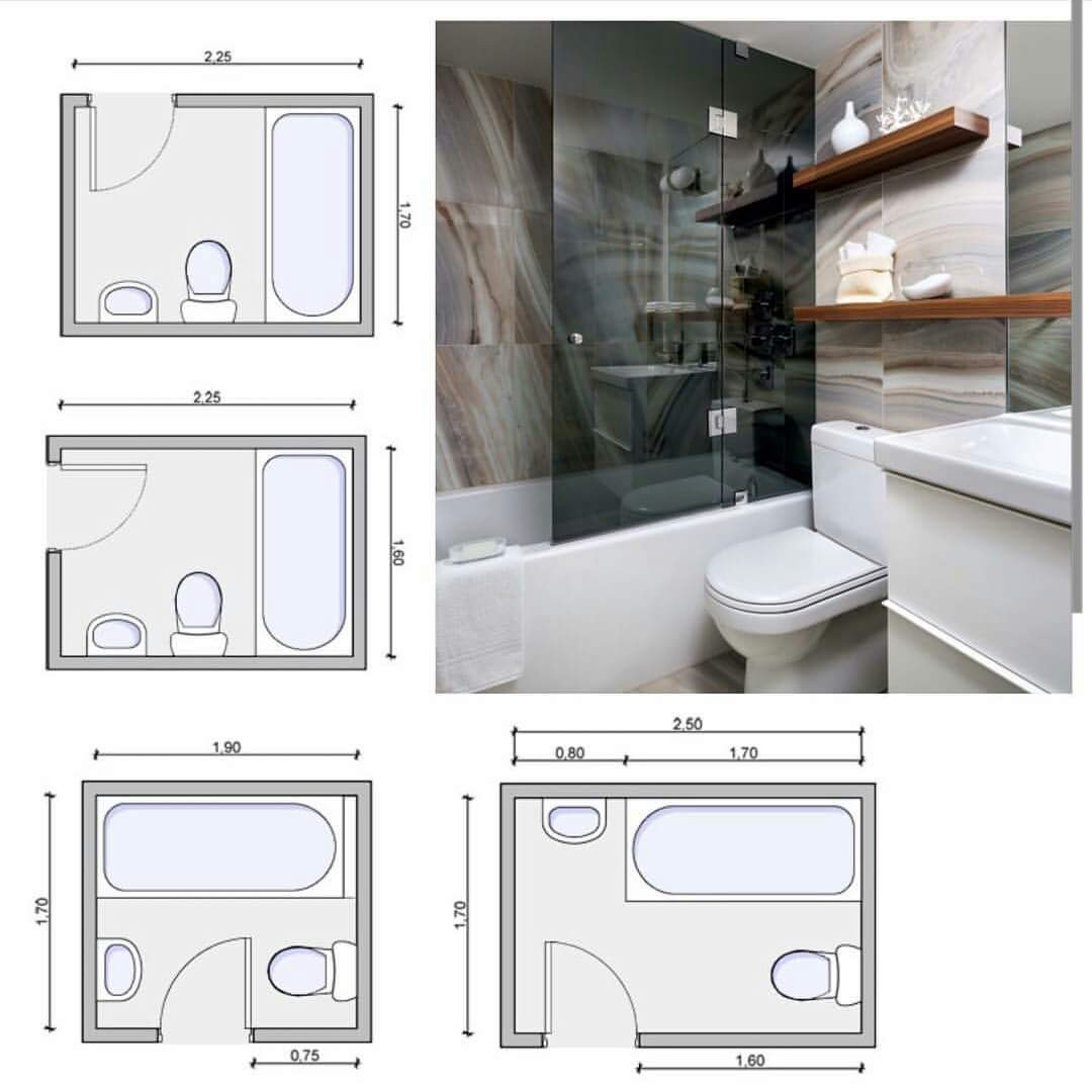 مجموعة من المقاسات والمقاييس المهمه عند تصميم الحمامات For Architects