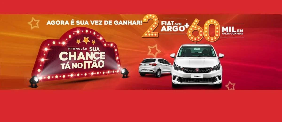 Promoção Itão Supermercados 2020 Sua Chance 2 Carros Fiat Argo e 60 Mil Vales-Compras