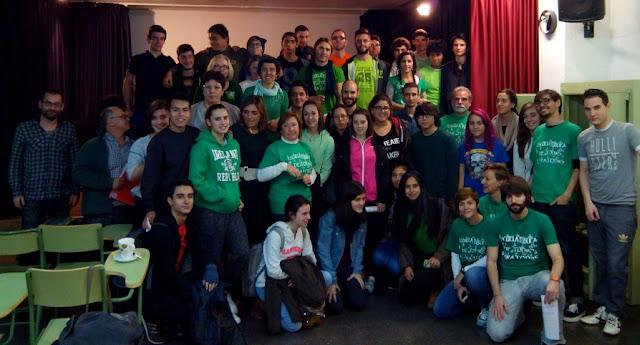 Encierro en el IES Rosa Chacel de Hortaleza contra la supresión de la oferta educativa