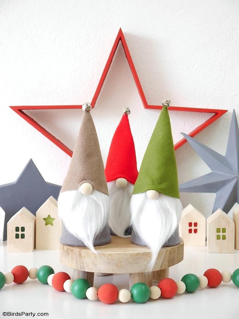 DIY Gnomes de Noël Sans Couture avec Patrons GRATUITS